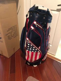 Hot Z Golf 2020 USA Flag Cart Bag  Display