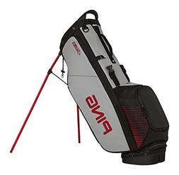 PING Golf Men's 4 Series Bag, Black/Grey/Red