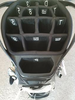 Golf bag organizer. Accessories. Golf bag numbered club bag