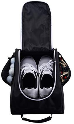 Athletico Golf Shoe Bag - Zippered Shoe Carrier Bags with Ve