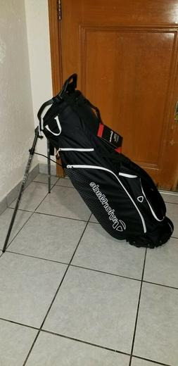TaylorMade Golf Bag LiteTech 3.0 Stand Black/White - New 201