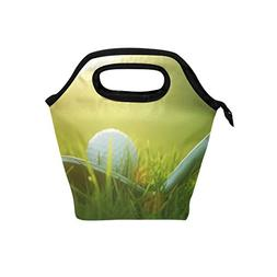 ALAZA Golf Ball in Grass Lunch Bag Light Small Insulated Twi