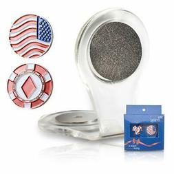 Golf Ball Marker Clip -Crystal heart Golf Marker For Women,