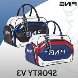 PING Golf Boston Bag Navy Khaki Sporty V3 Carry with shoulde
