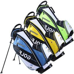 Golf Cart Bag 14 Way Dividers Stand Set Kit with Rain Hood 6