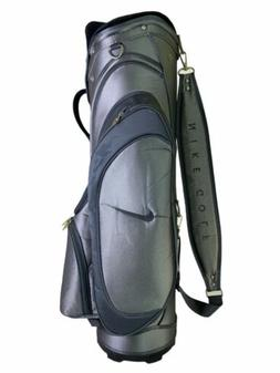 Nike Golf Cart Bag 7 Way Divider Black Silver Gray Very Good