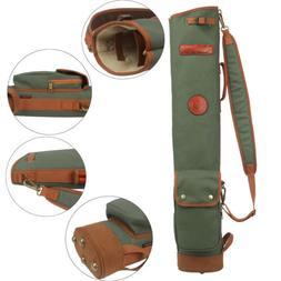 Tourbon Golf Club Carry Bag Sunday Case Pack Canvas Leather