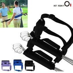 Golf Club Carrier Golf Bag Lightweight Travel Carry Bag 2 Pa