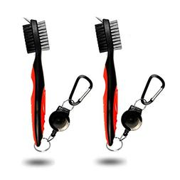 Golf Club Cleaning Brush and Groove Cleaner with Retractable