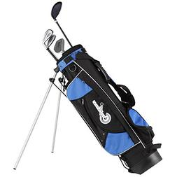 Confidence Junior Golf Club Set with Stand Bag for Age 8-12,