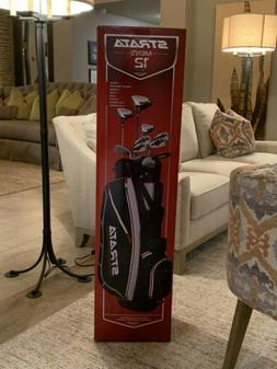 Golf Club Set with Stand Bag Complete 12-Piece Left Handed 9