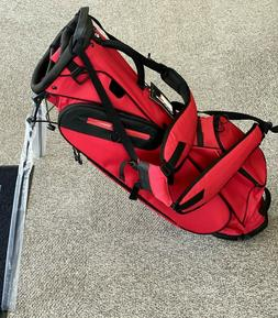 TaylorMade Golf Custom FlexTech Lite Stand Golf Bag Red/Blac