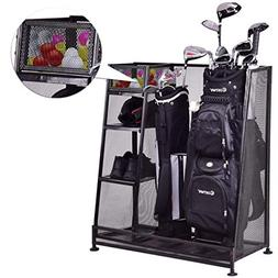 Tangkula Golf Organizer Durable Metal Storage Rack Golf Club