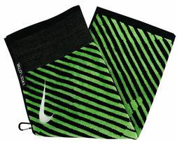 Nike Golf Face/Club Jacquard Towel Black/Voltage Green  N874