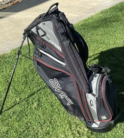 PING Golf Hoofer Stand Bag / 5-Way Divider / Black & Grey /