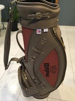 Wilson Golf NFL PIGSKIN Leather Football Cart Bag Vintage Co