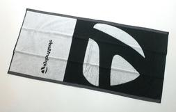 """TaylorMade Golf Players Towel 19""""X37"""" Black & White New Bag"""