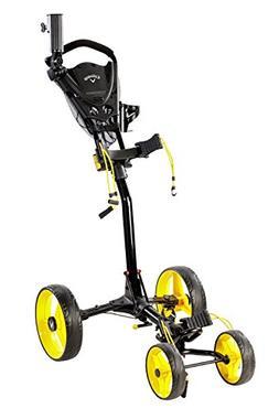 Callaway Golf Push Cart Trek 4 Wheel Compact Black/Yellow