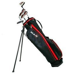 Ram Golf SGS Mens Left Hand Golf Clubs Starter Set with Stan