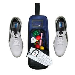 Golf Shoes and Accessories Storage Bag Zipped Tote Carrying
