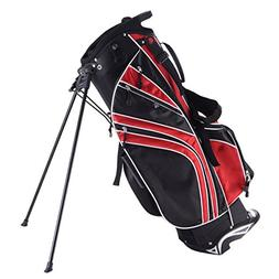 Tangkula Golf Stand Bag w/6 Way Divider Carry Organizer Pock