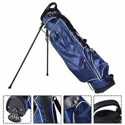 Golf Stand Cart Bag Club w/4 Way Divider Carry Organizer Poc