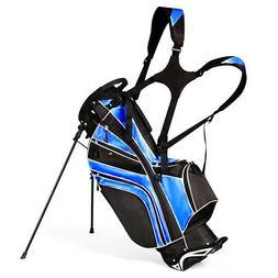 Golf Stand Cart Bag Club w/6 Way Divider Carry Organizer Poc