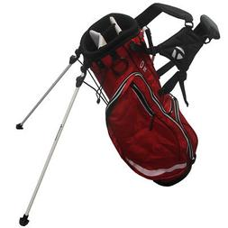 golf team stand bag red black
