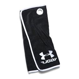 Under Armour Golf Towel, Black /White, One Size