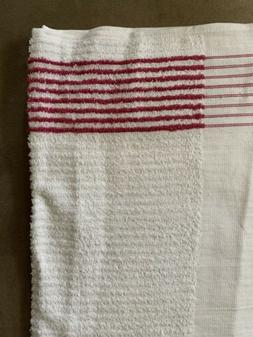 """Golf Towel White Pink Stripes Players Bag Caddy Large 44"""""""