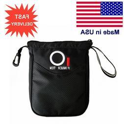 Golf Valuables Pouch Hold Balls Black Storage Zipper Bag Pla