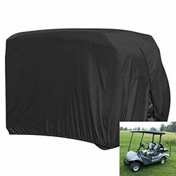 Heavy Duty UV Gold Cart Cover Protector Large Durable w/ Car