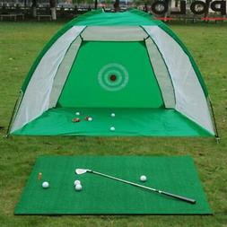 Foldable Golf Driving Cage Practice Hitting Net Outdoor Back