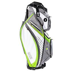 IZZO Gemini Cart Golf Bag - Black, Red, Green or Blue - Golf