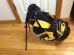Lynx Juniors Youth Black & Yellow Black Golf Bag Stand Carri
