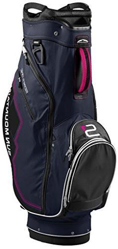 Sun Mountain Women's S-1 Cart Golf Bag, Navy/Black/Pink