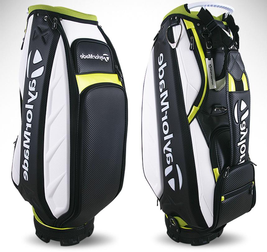 "TaylorMade 10"" Caddie Bag Cart U23359 White/Black/Lime"
