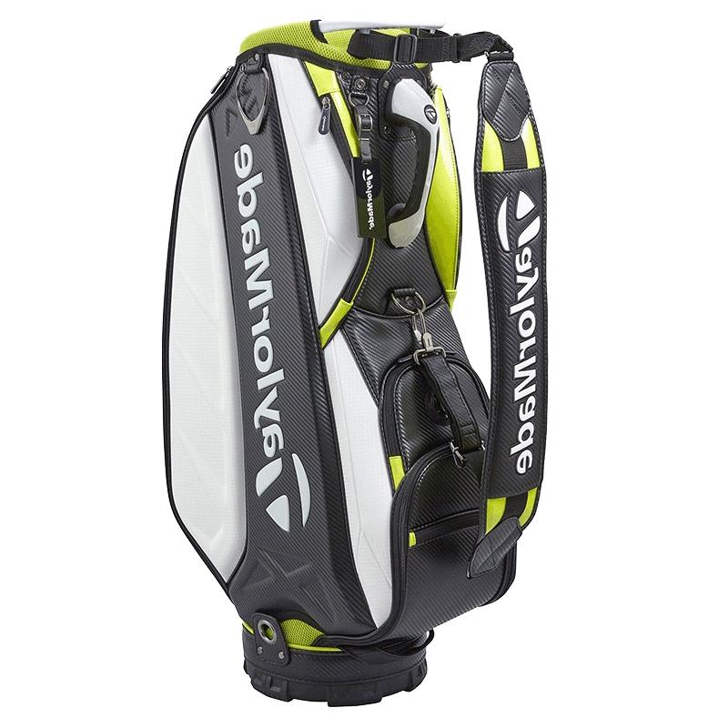 "TaylorMade 2018 A-9 10"" 4Way Bag Cart White/Black/Lime"
