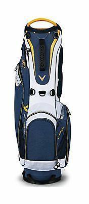 Callaway Golf 2018 Hyper Lite 3 Stand Bag Navy/White/Gold Si