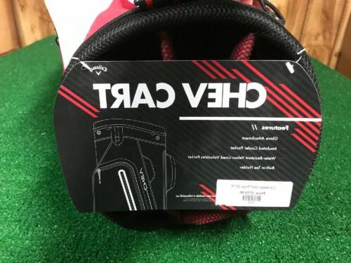 2019 Callaway Golf Cart Bag Red/ White