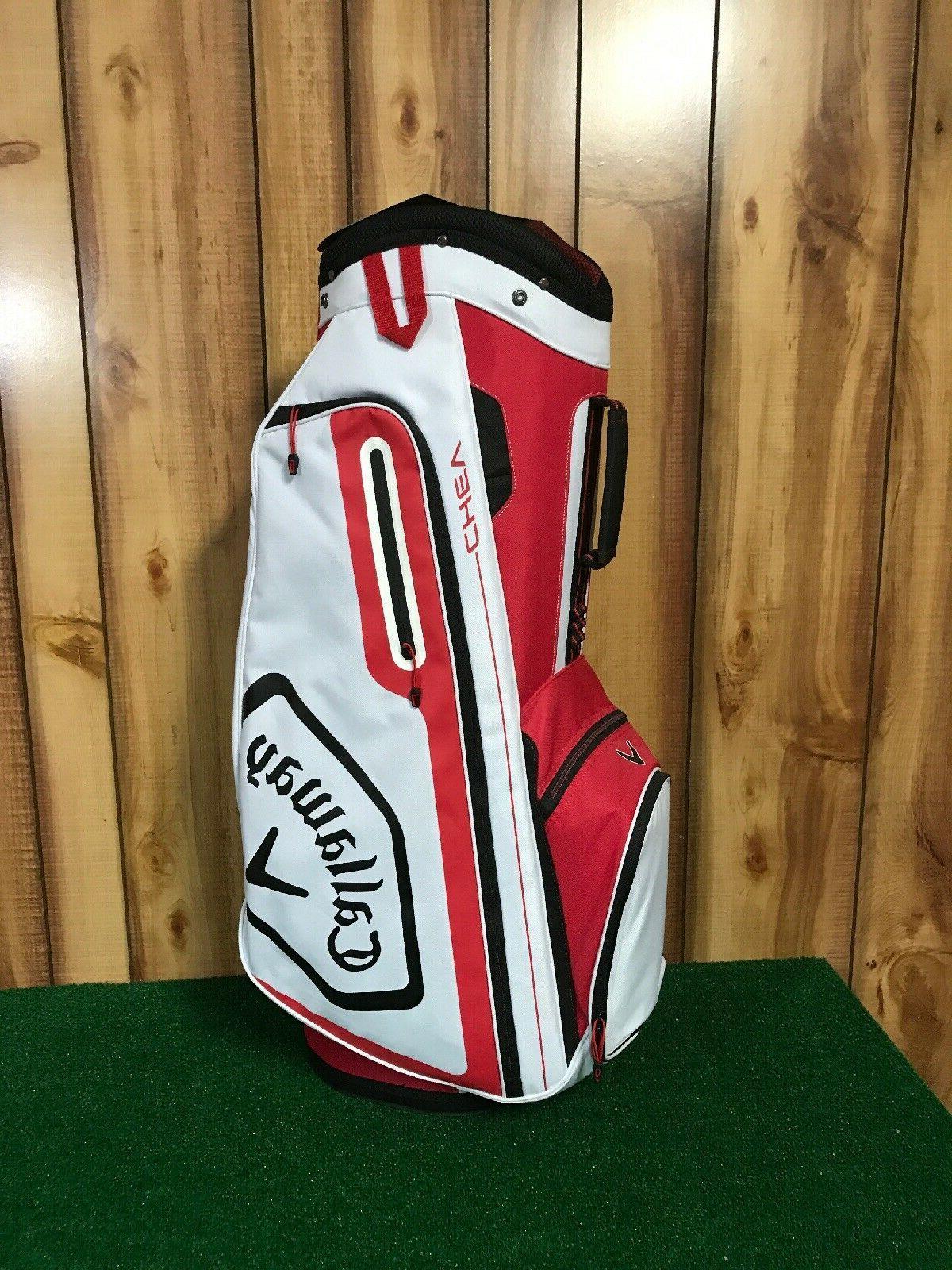 2019 golf chev cart bag red white