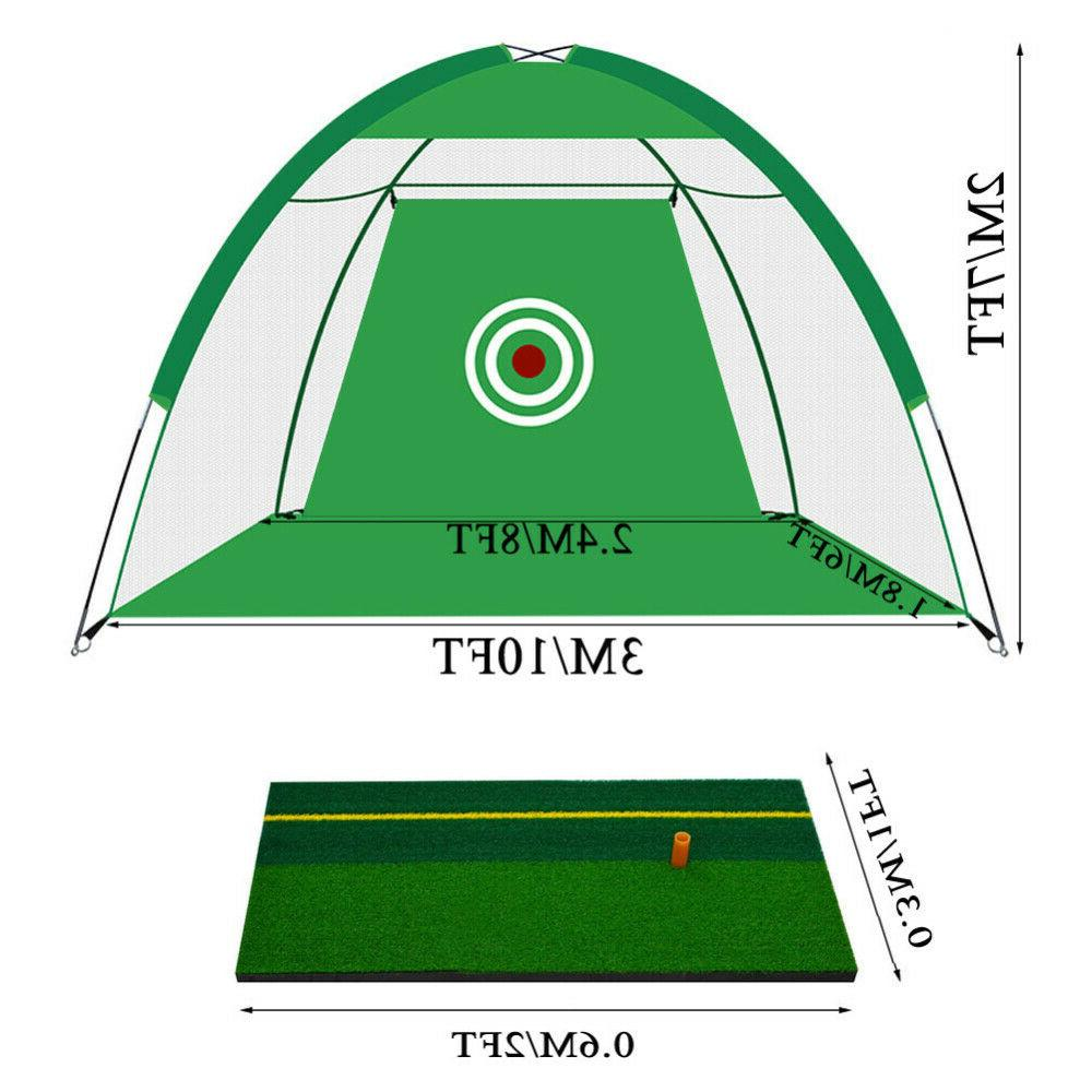 Foldable Cage+Mat+3Ball+Bag Golf Practic Equip