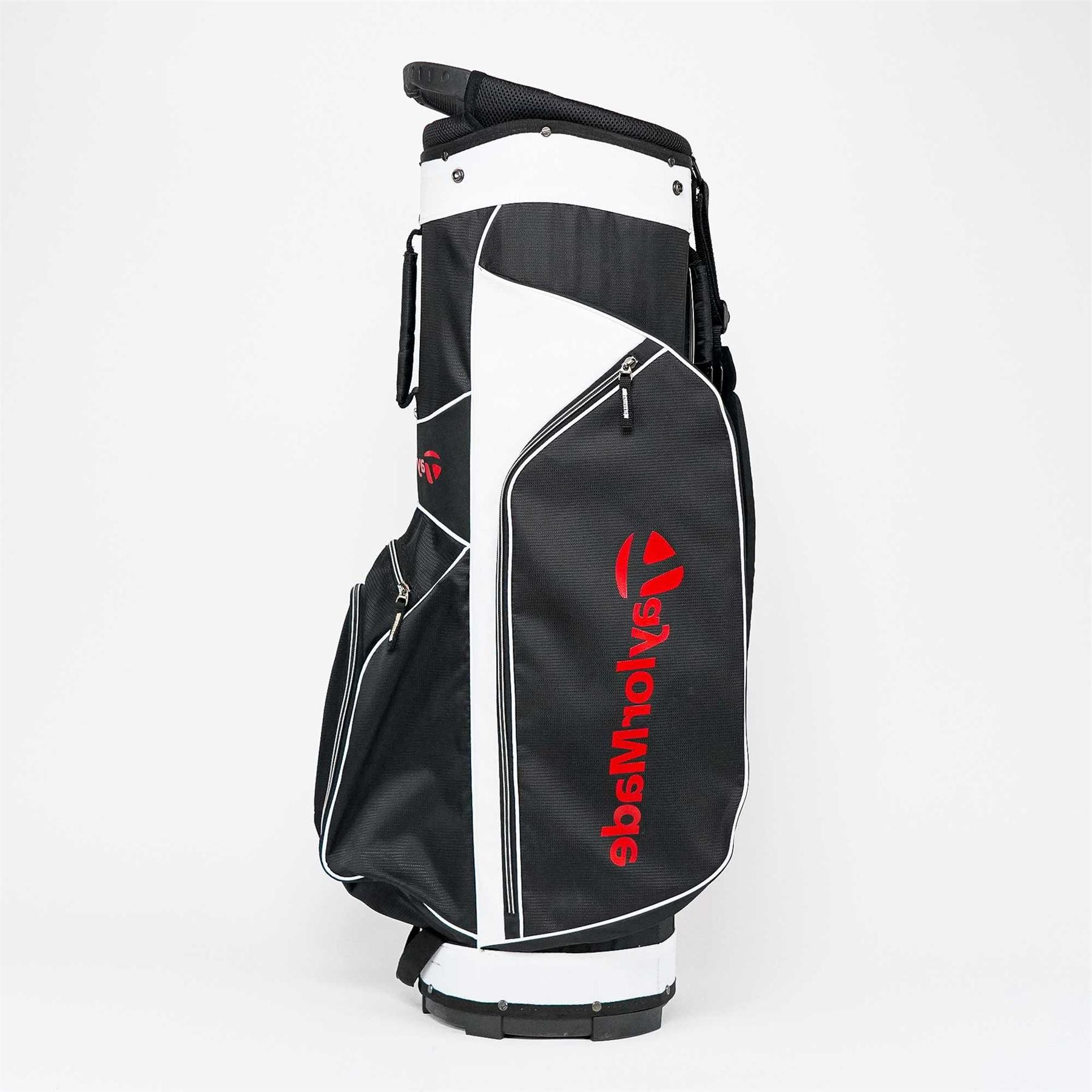 TaylorMade 5.0 Cart Bag Black/White/Red