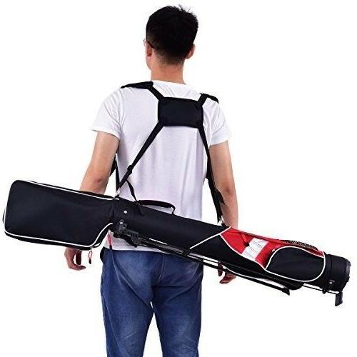 Tangkula Golf Club 7 Dividers Carry Golf Bag