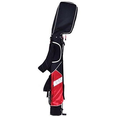 """Tangkula 5"""" Golf Club Carry Bag Stand Bag"""