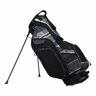 Callaway Hyper Lite 5 Stand Bag, Black/ Titanium/ White