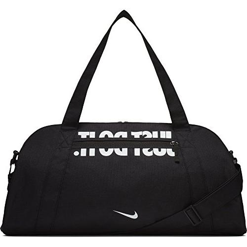 NIKE Women's Gym Club Duffel Bag, Black/Black/White, One Siz