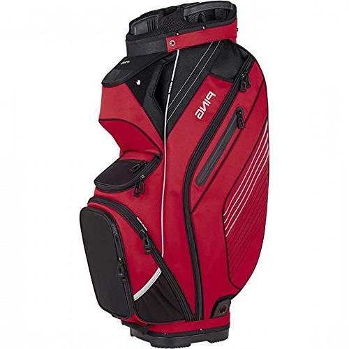 PING Golf Men's Pioneer Cart Bag, Red/Black/Grey