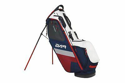 Ping 2018 Hoofer Carry Stand Golf Bag, Navy/White/Red