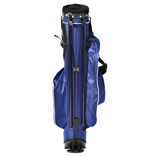 Organized Carry Bag with 3 Dividers 4 Pockets for Extra Storage, Blue